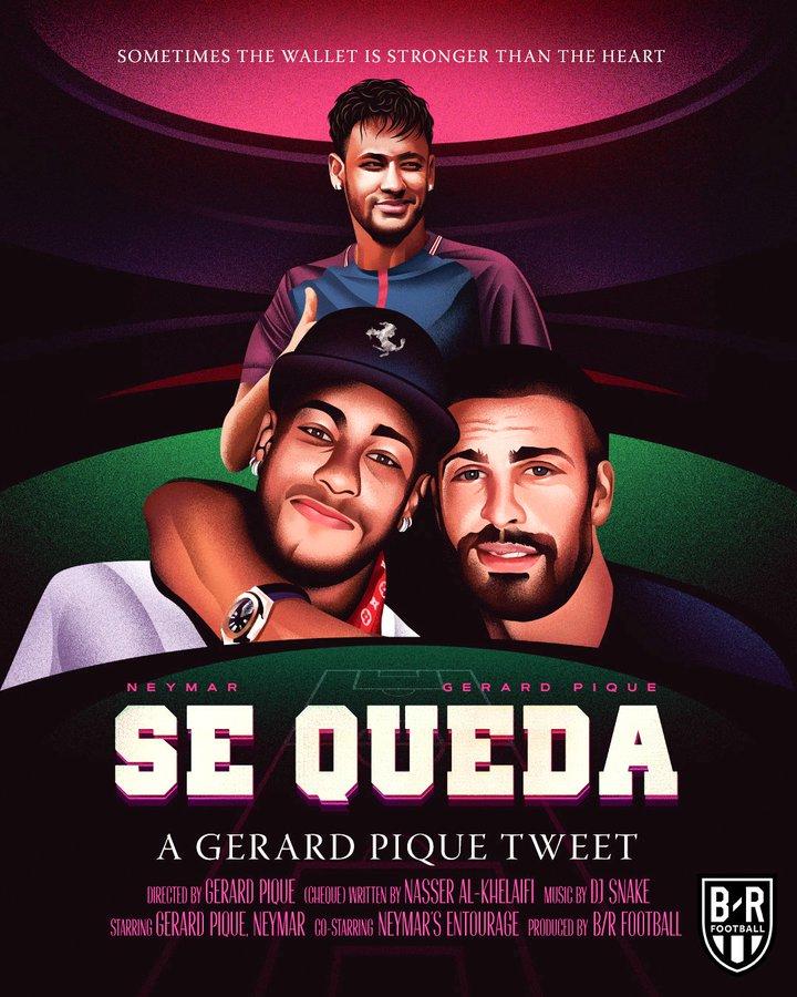 """历史上的今天:三年前,皮克说""""Se queda""""  足球话题区"""